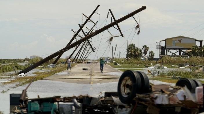 """USA: Verwüstungen nach dem Hurrikan """"Laura"""""""