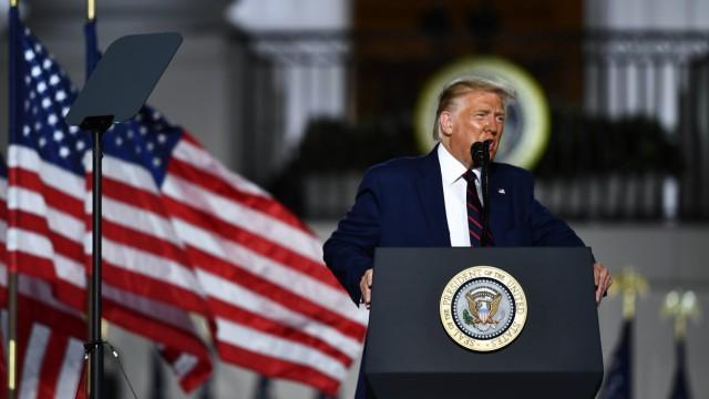 US-Präsident Donald Trump spricht auf dem Parteitag der Republikaner 2020