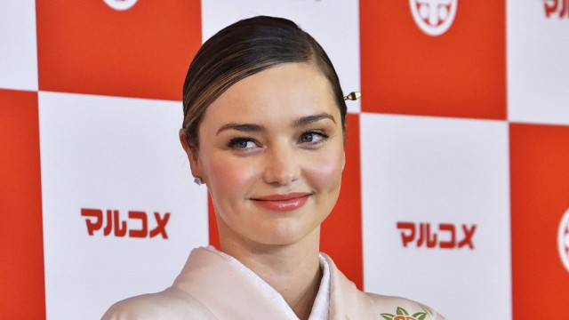 Miranda Kerr at the presentation of Marukome Koji amazake sake made from rice and malt at Shinagawa Go