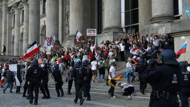 Demonstration against the German government's COVID-19 restrictions in Berlin