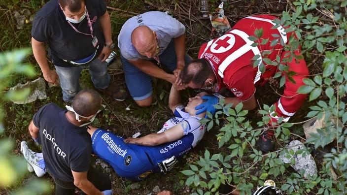 Doping im Radsport: Der Sturz von Remco Evenepoel, bei dem ein Gegenstand entfernt wurde, schockte vor zwei Wochen die Radsportwelt.