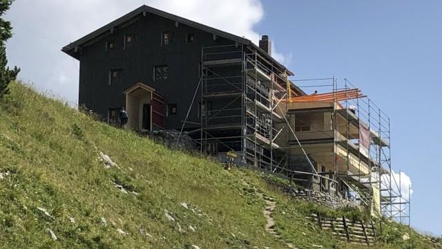 Sanierung Tölzer Hütte am Schafreuter