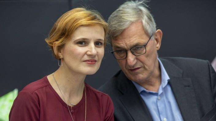 Deutschland, Berlin, Bundestag, Fraktion LINKE., Katja Kipping, Bernd Riexinger, 12.11.2019 *** Germany, Berlin, Bundes