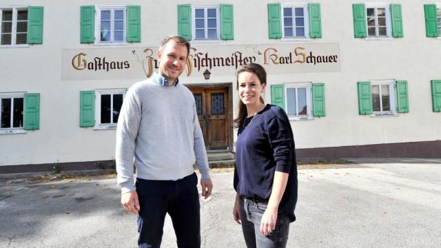 Pöcking. neue Pächter Gasthof Schauer:  Christoph und Verena Ziesel