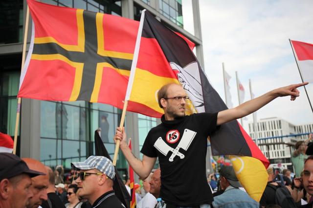 Protests in Berlin against Angela Merkel policies