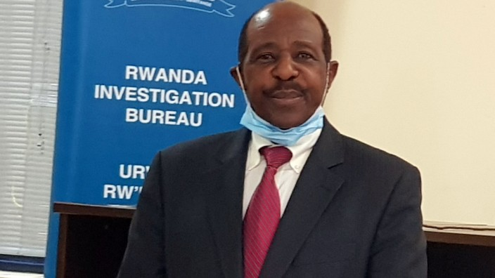 Rusesabagina is detained and paraded in front of media in handcuffs in Kigali