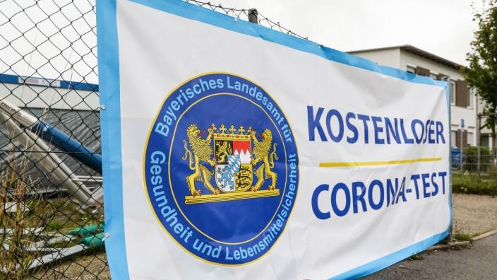 FÜRSTENFELDBRUCK:  Erster Tag der Corona Teststation
