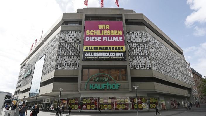 """Einzelhandel: """"Alles muss raus"""" - die Filiale von Galeria Karstadt Kaufhof in Essen."""