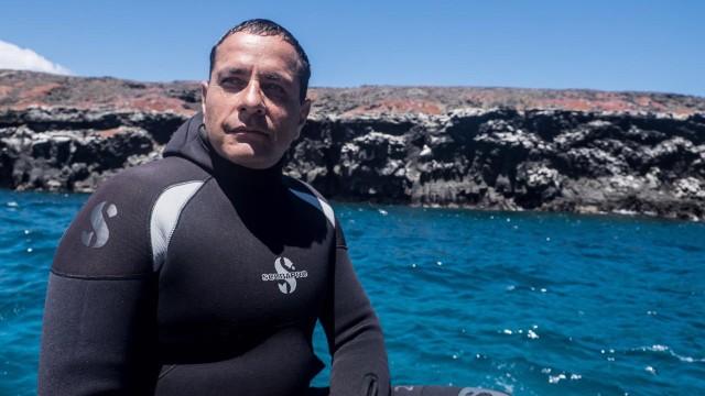 : Mathias Espinosa, Tauchguide, Galapagosinseln, Ecuador