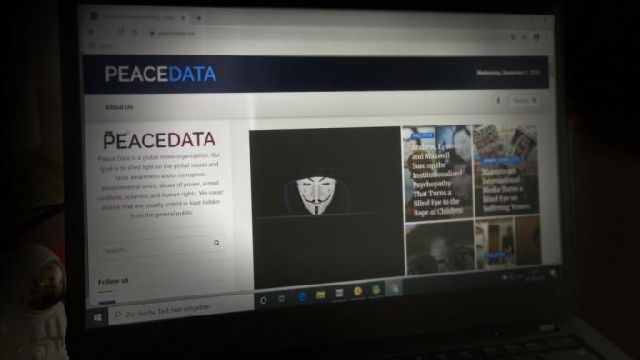 """Internetseite von """"Peace Data"""""""