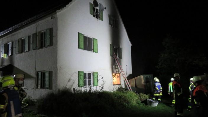 Zimmerbrand in Glonn, MI