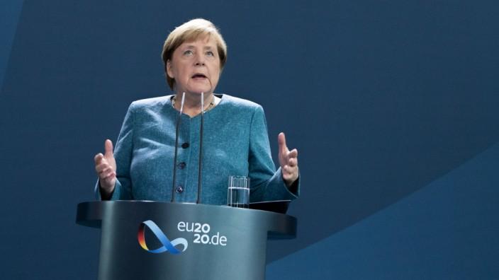 Merkel Speaks to Media As German Authorities Confirm Alexei Navalny Was Poisoned With Novichok