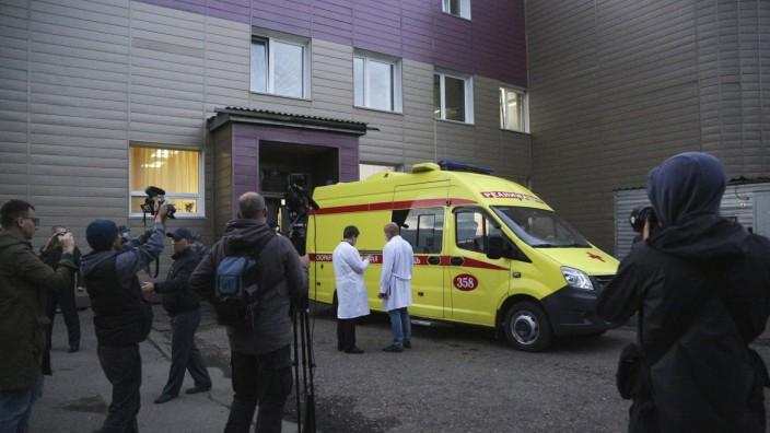 Russland: Oppositionsführer Nawalny in einem Krankenhaus in Omsk