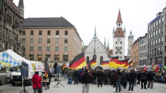 PEGIDA Demonstration und Gegendemonstration in München, 2018