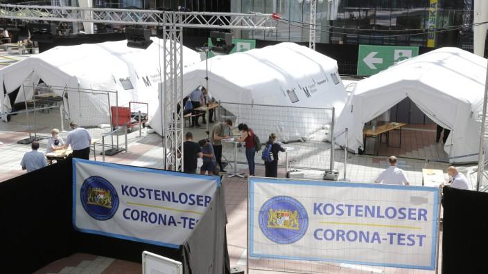Kostenloser Corona-Test am Flughafen München, 2020