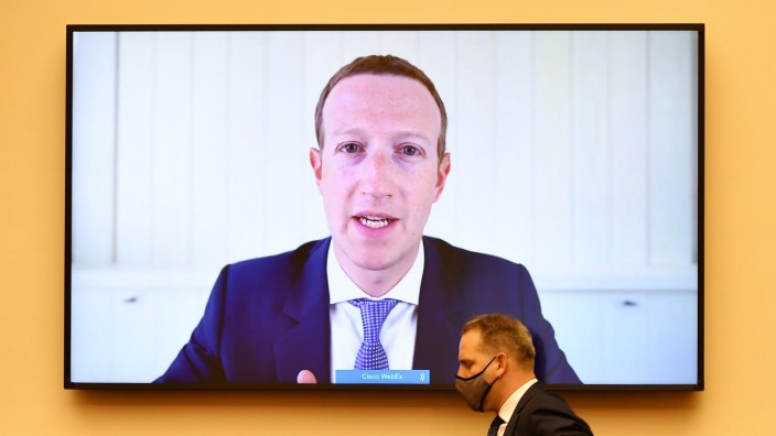 FILE PHOTO: Facebook CEO Mark Zuckerberg testifies before the House Judiciary Subcommittee on Antitrust, Commercial and Administrative Law on Capitol Hill in Washington