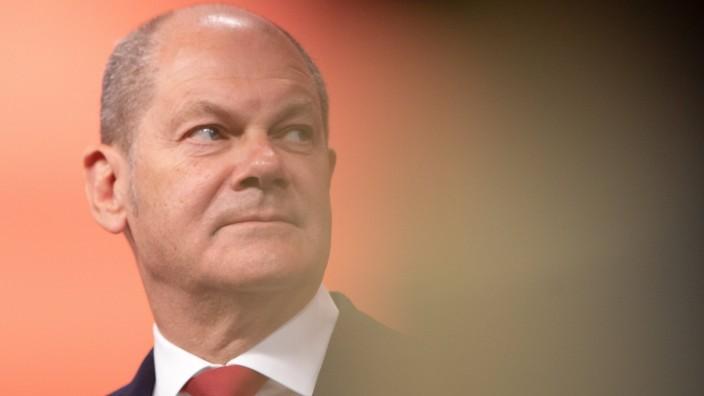AUSTRIA - GERMANY - POLITIC ÖSTERREICH; WIEN; 20200824; Deutscher Finanzminister Olaf Scholz (Bild) spricht während eine