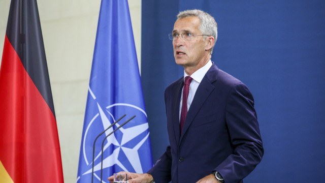 Merkel Meets With NATO Secretary General Jens Stoltenberg