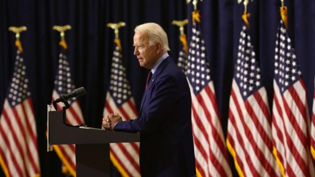 Democratic Presidential Nominee Joe Biden Speaks In Wilmington, Delaware