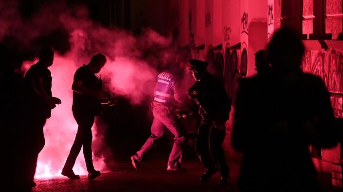 Demonstration nach Räumung von besetztem Haus