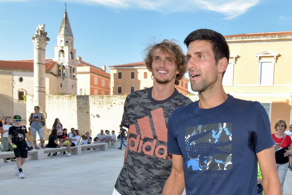 Sport Bilder des Tages  18.06.2020., Zadar, Croatia - Kids Day of the tennis mega-spectacle Adria Tour held on Zadar Fo