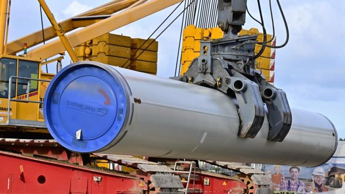 """Bau der Erdgas-Pipeline """"Nord Stream 2"""" in Lubmin"""