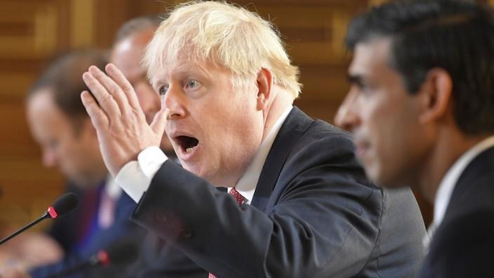 Premier Johnson droht mit hartem Bruch nach Brexit-Übergangsphase