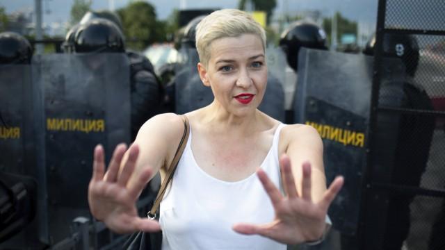 Maria Kolesnikowa in Minsk