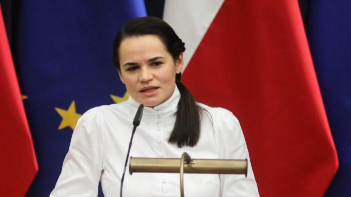 Swetlana Tichanowskaja in Polen