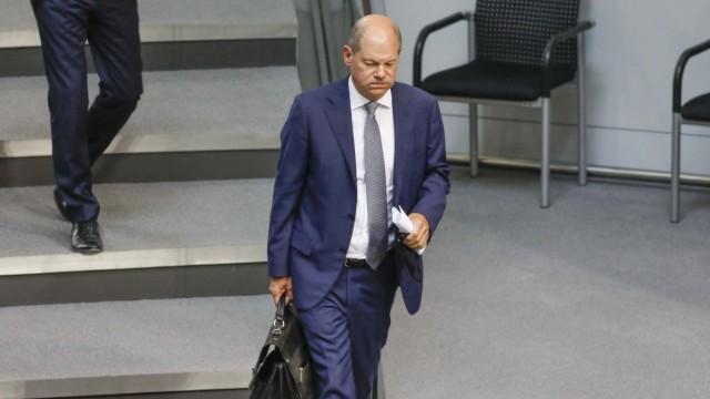 Bundesfinanzminister Olaf Scholz Berlin, DEU, 09.09.2020 - Bundesfinanzminister Olaf Scholz im Bundestag. Berlin Berlin