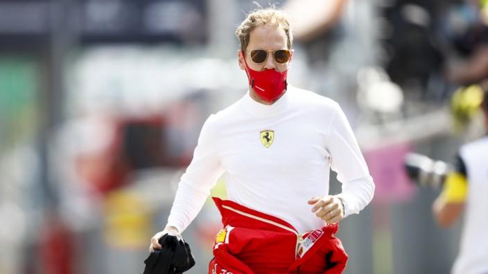 2020 Italian GP AUTODROMO NAZIONALE MONZA, ITALY - SEPTEMBER 06: Sebastian Vettel, Ferrari runs during the Italian GP a