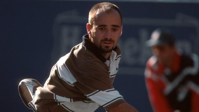 Andre Agassi (USA) - Rückhand; Andre Agassi