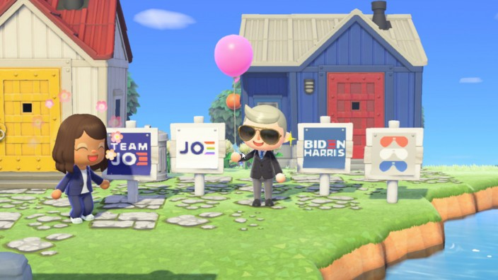 2020 Electional Campaign Joe Biden Animal Crossing