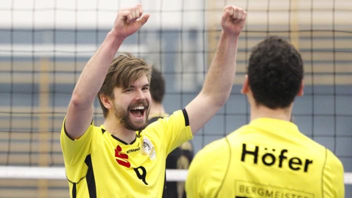 Volleyball Hessen 2 Bundesliga Süd Männer 18 11 2017 VI Frankfurt schwarz TSV Grafing; thomas stretz grafing