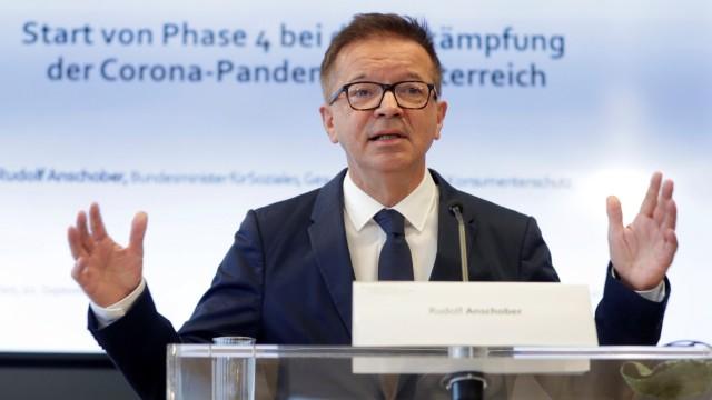 Austrian Health Minister Anschober addresses the media in Vienna