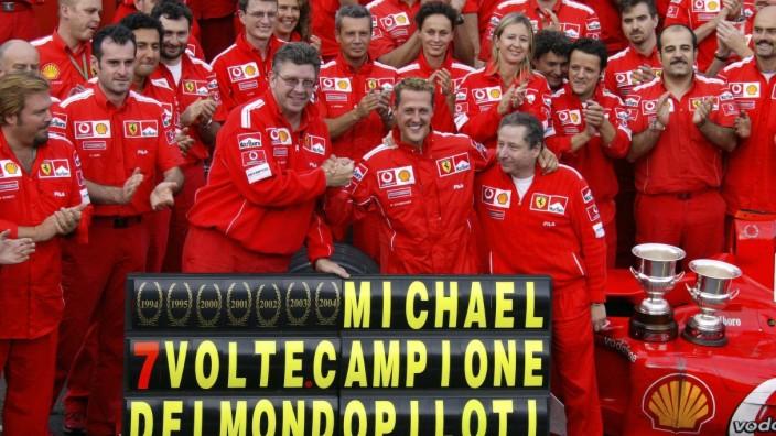 Formel 1: Ferrari feiert mit Michael Schumacher seinen 7. WM-Titel 2004