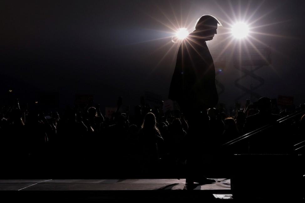 U.S. President Donald Trump attends a campaign rally in Reno