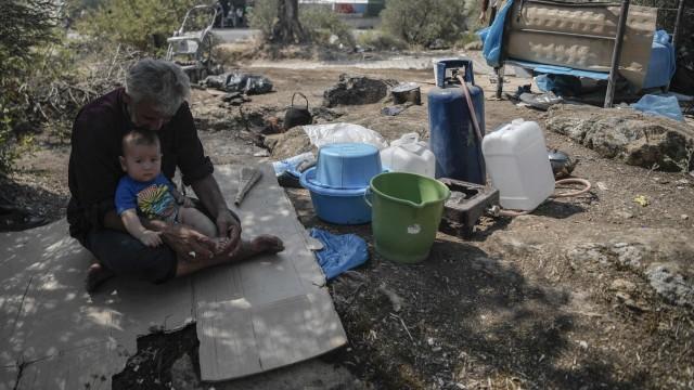 Moria Lesbos Flüchtlinge
