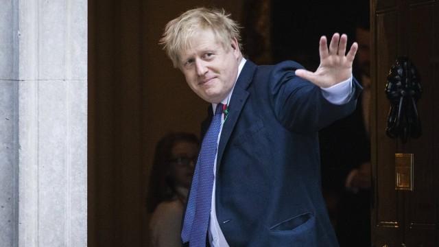 October 28, 2019, London, London, UK: London, UK. Prime Minister Boris Johnson outside 10 Downing Street. The EU has ag