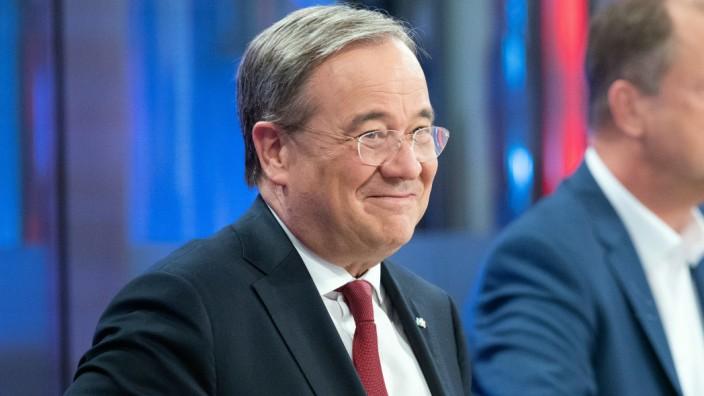 Kommunalwahlen in Nordrhein-Westfalen 2020: Armin Laschet in einer Fernsehdiskussion
