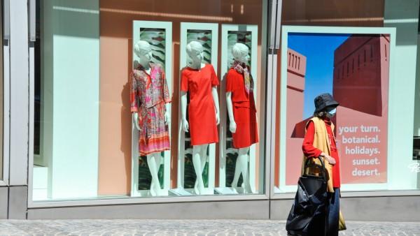 Einkaufen in München zur Zeit der Corona-Krise, 2020
