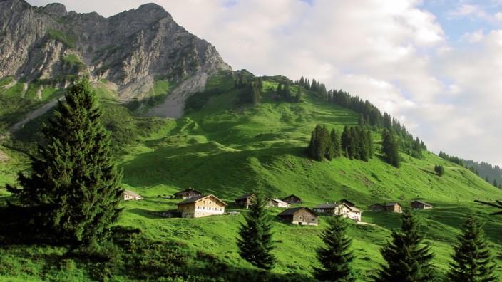 Die Alpe Steris im Großen Walsertal.