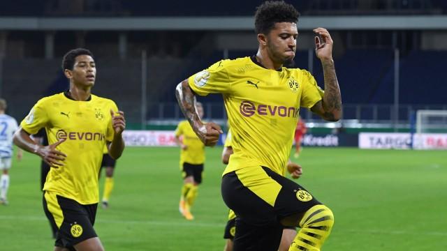 Fußball DFB-Pokal 1. Runde MSV Duisburg - Borussia Dortmund am 14.09.2020 in der Schauinsland-Reisen-Arena in Duisburg