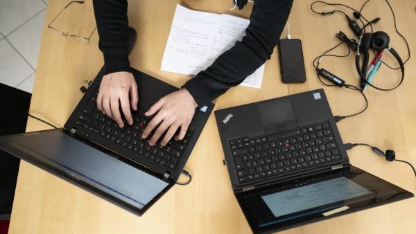 Home Office am Laptop