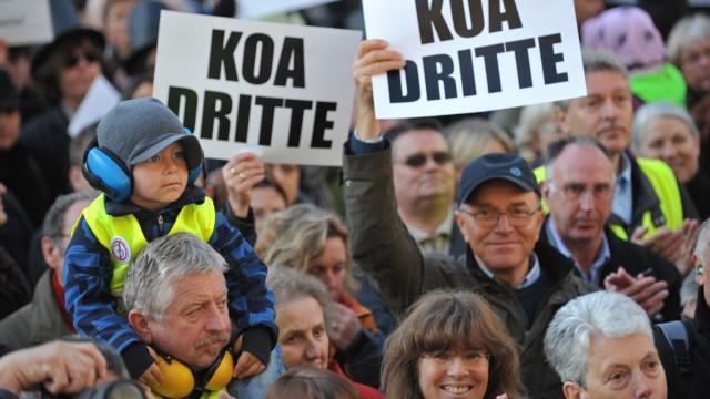 Demo gegen 3. Startbahn in München
