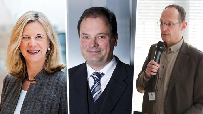 Intendantenwahl beim Bayerischen Rundfunk: Katja Wildermuth, Albrecht Frenzel und Christian Vogg (v.l.n.r.)