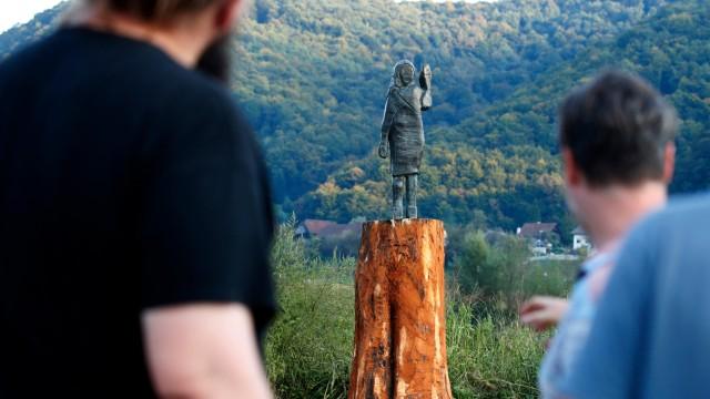 Melania-Trump-Statue in Slowenien