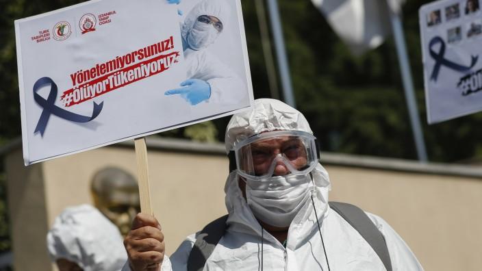 Coronavirus - Proteste in der Türkei
