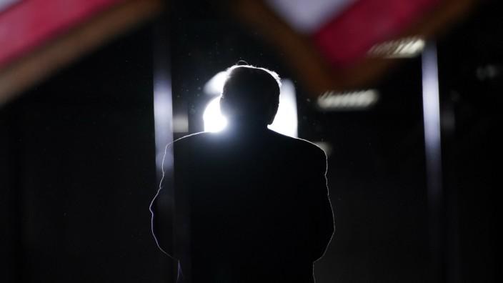 Donald Trump bei einer Wahlkampfrede 2020