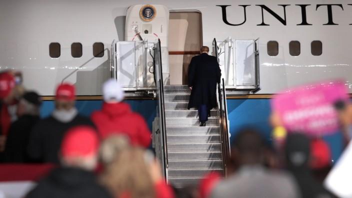 US-Wahl 2020: Donald Trump bei einer Wahlkampfveranstaltung in Wisconsin